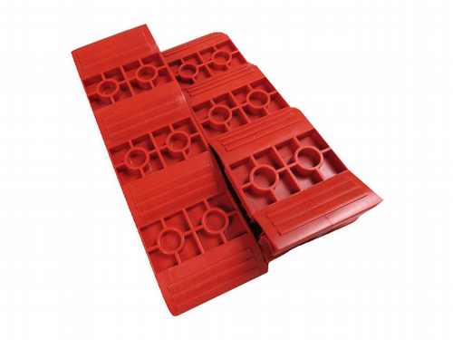 Motorhome Levelling Ramps 5T x2 - Red Caravan RV Block Chocks